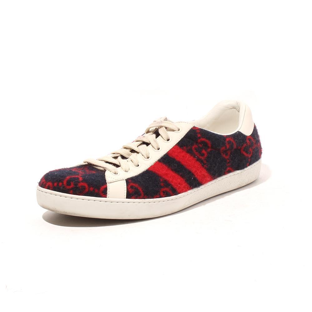 Gucci Size 8 Stripe Wool Sneaker