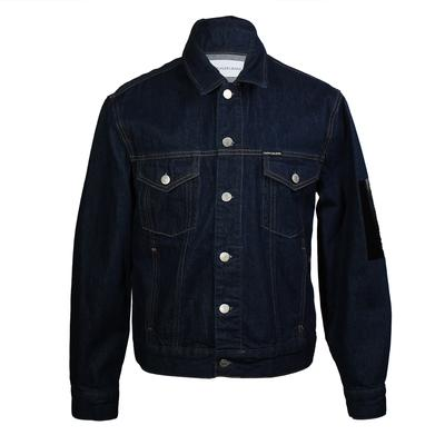 Calvin Klein Size Small Patch Denim Jacket