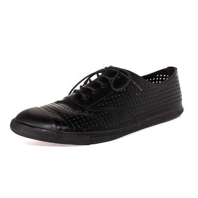 Prada Size 12 Black Leather Shoes