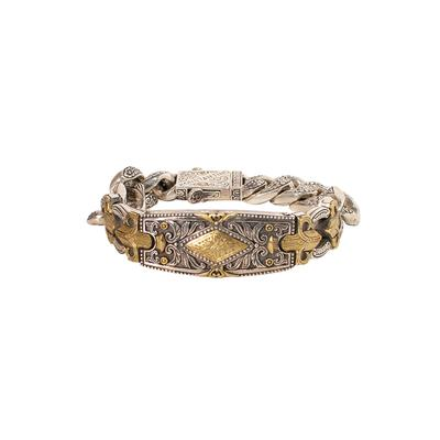 Konstantino Sterling SIlver & 18K Gold Bracelet