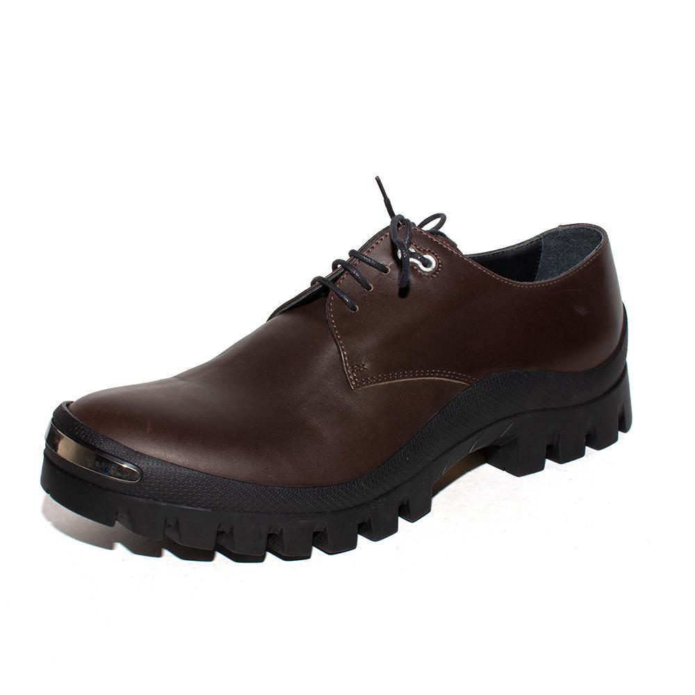 Neil Barrett Size 9 Leather Work Shoes
