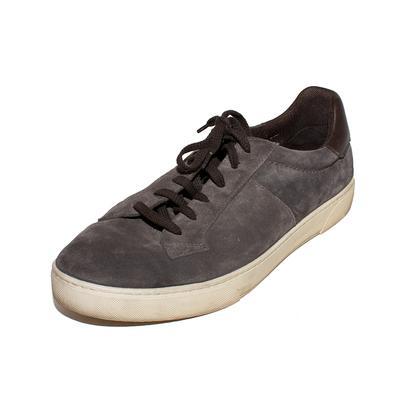 Ermenegildo Zegna Size 8.5 Grey Suede Sneakers