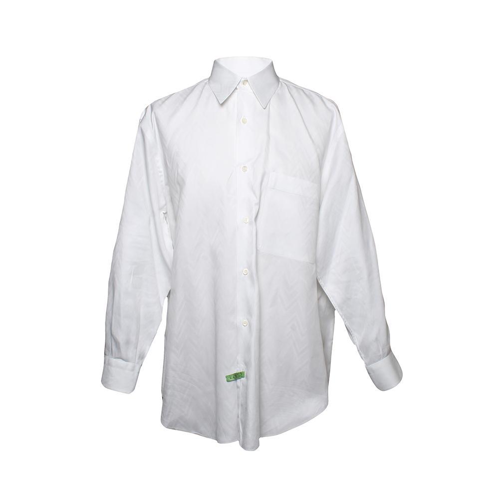 Brioni Size Medium White Button Up Shirt