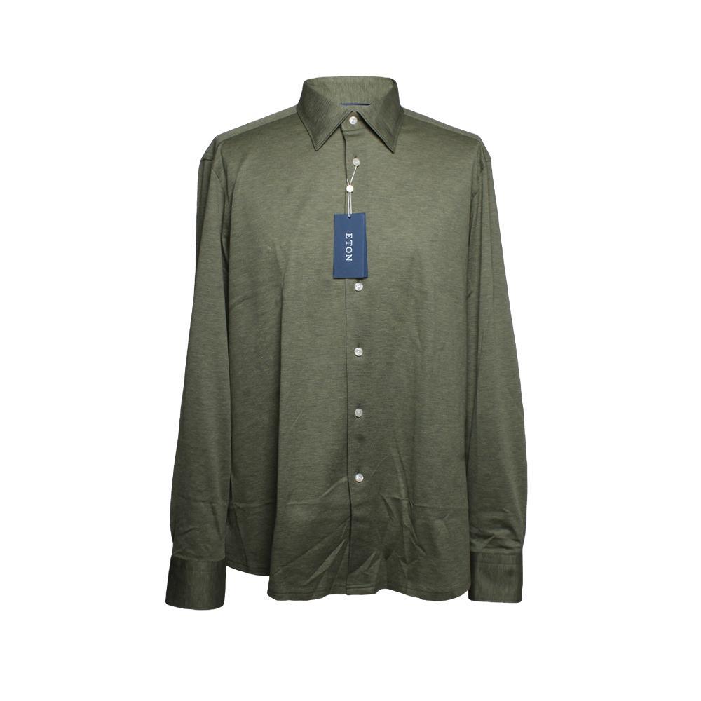 Eton Size Xl Green Button Up Shirt New
