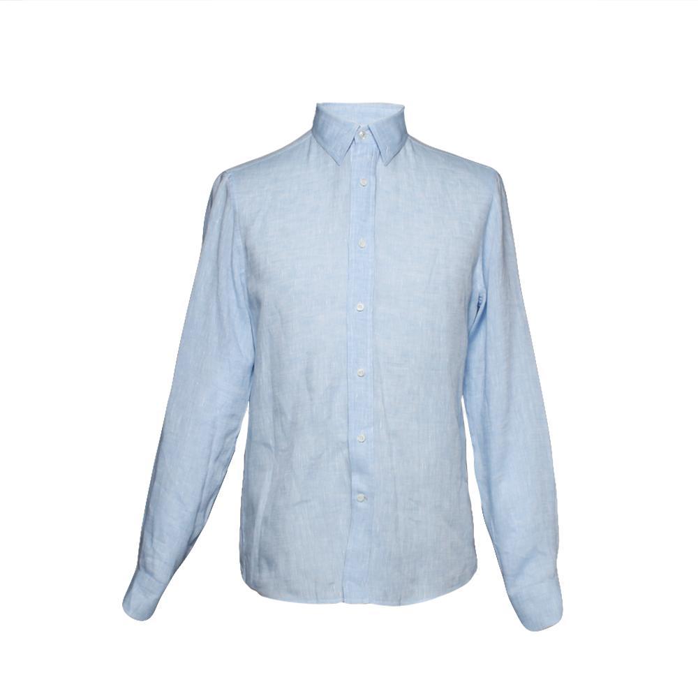 Brunello Cucinelli Blue Linen Size Small Button Up
