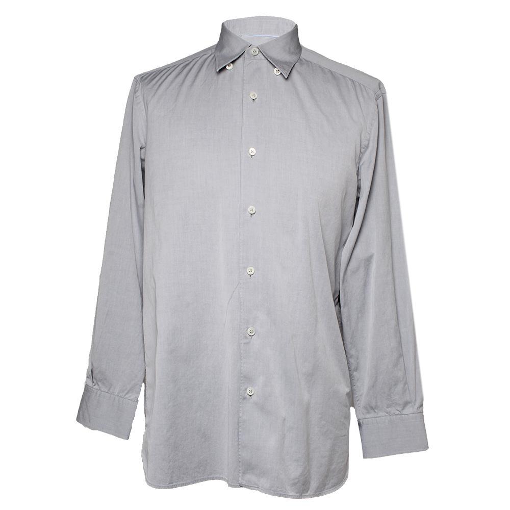Ermenegildo Zegna Size M Grey Long Sleeve