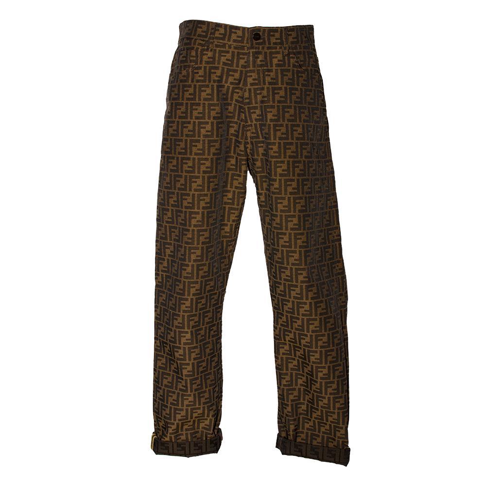 Fendi Size 34 Monogrammed Pants