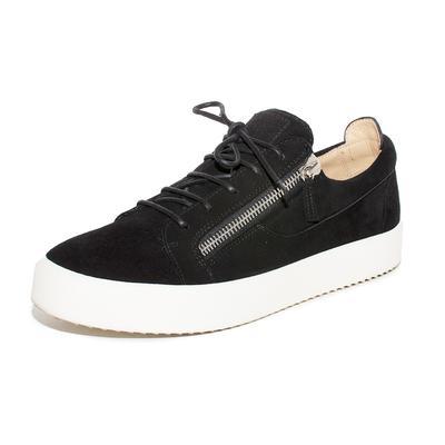 Giuseppe Zanotti Size 46 Black Suede Sneakers