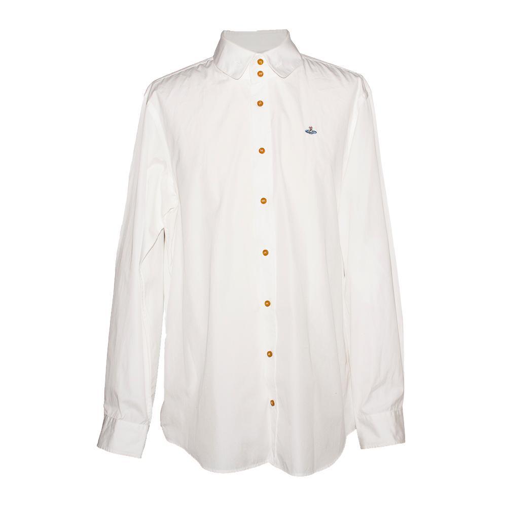 Vivienne Westwood Size 46 White Long Sleeve Shirt