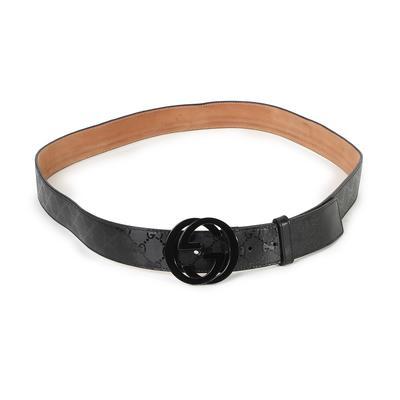 Gucci Size 40 GG Imprimé Belt