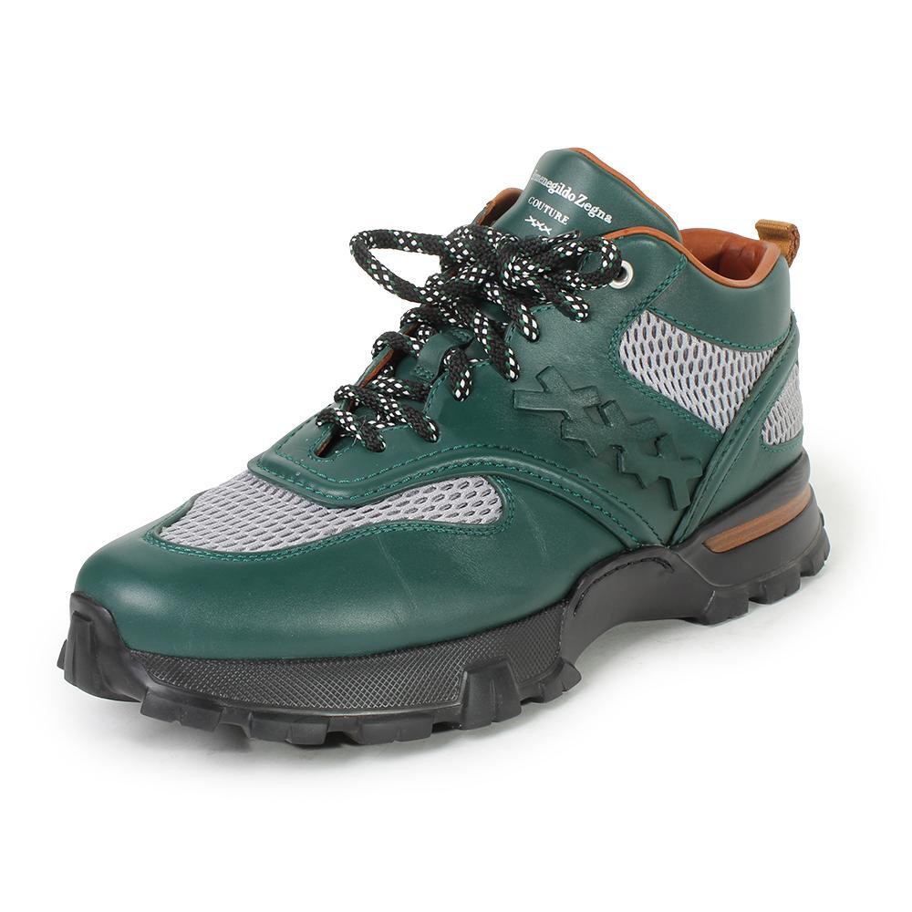 Ermenegildo Zegna Size 10.5 Couture Green Cesare Sneakers