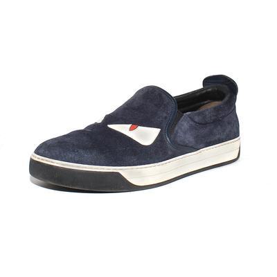 Fendi Size 8 Blue Slip Ons