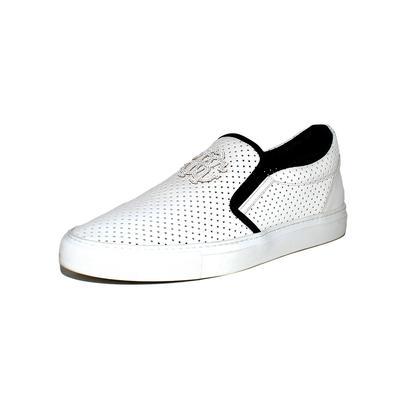 Roberto Cavalli Size 44 White Slip Ons
