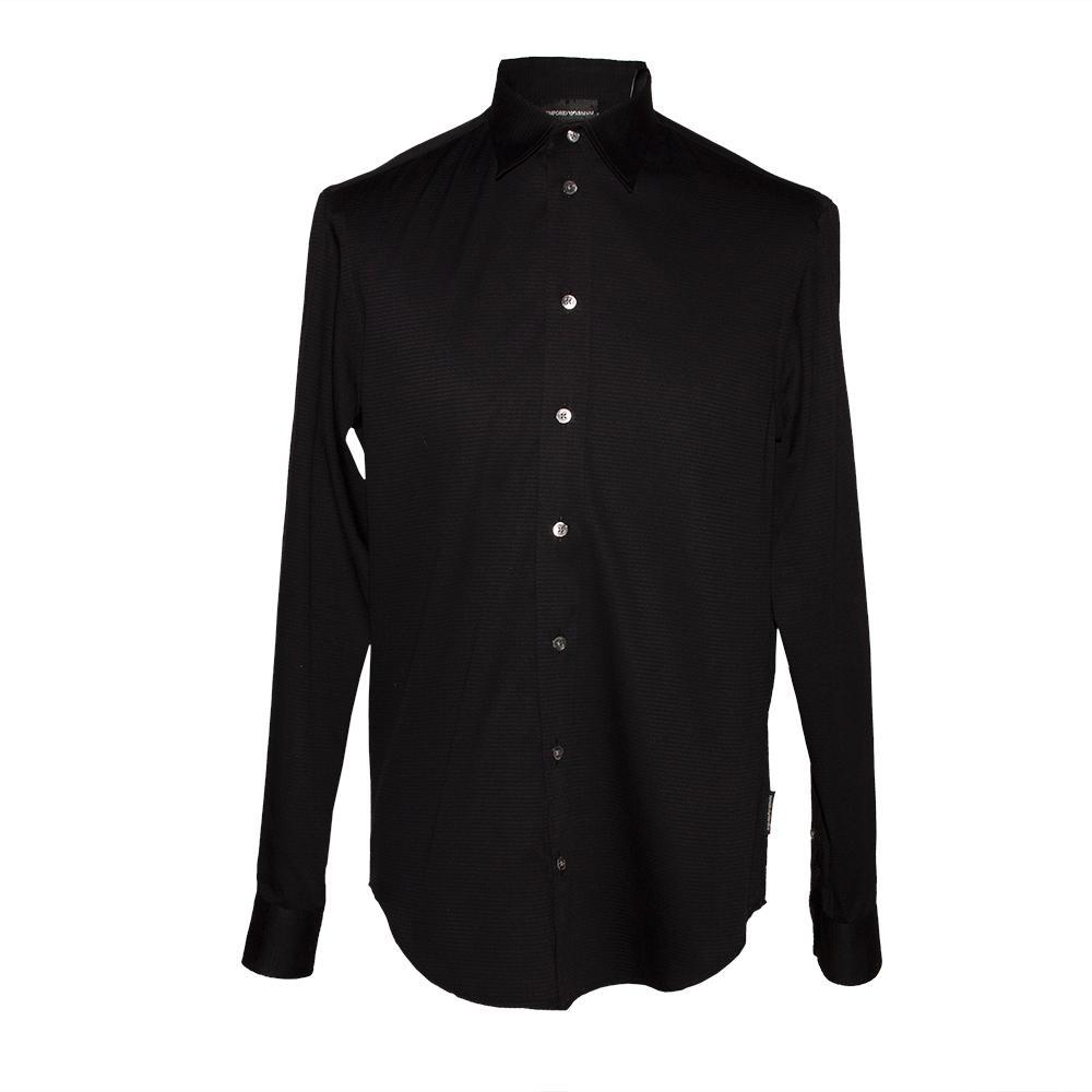 Emporio Armani Size Small Black Long Sleeve Shirt