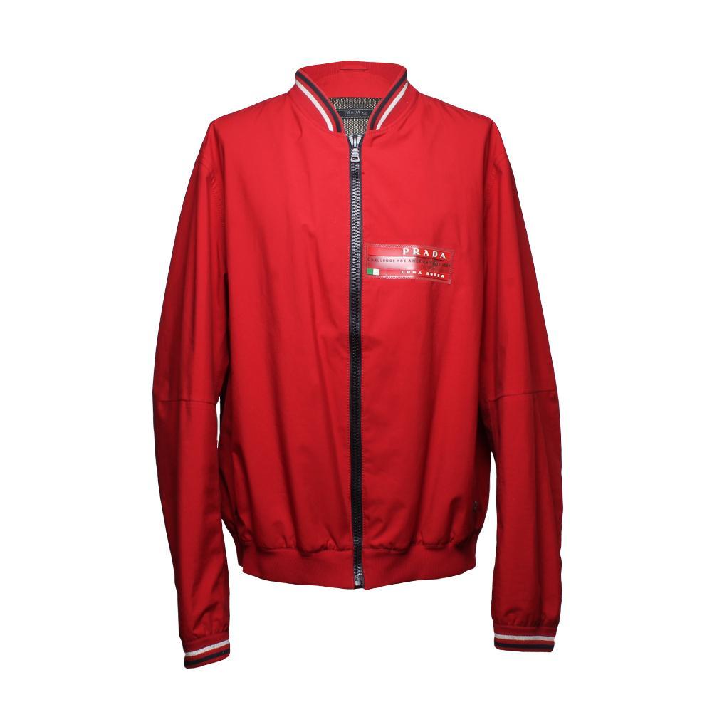 Prada Size 56 Red Luna Rossa Jacket