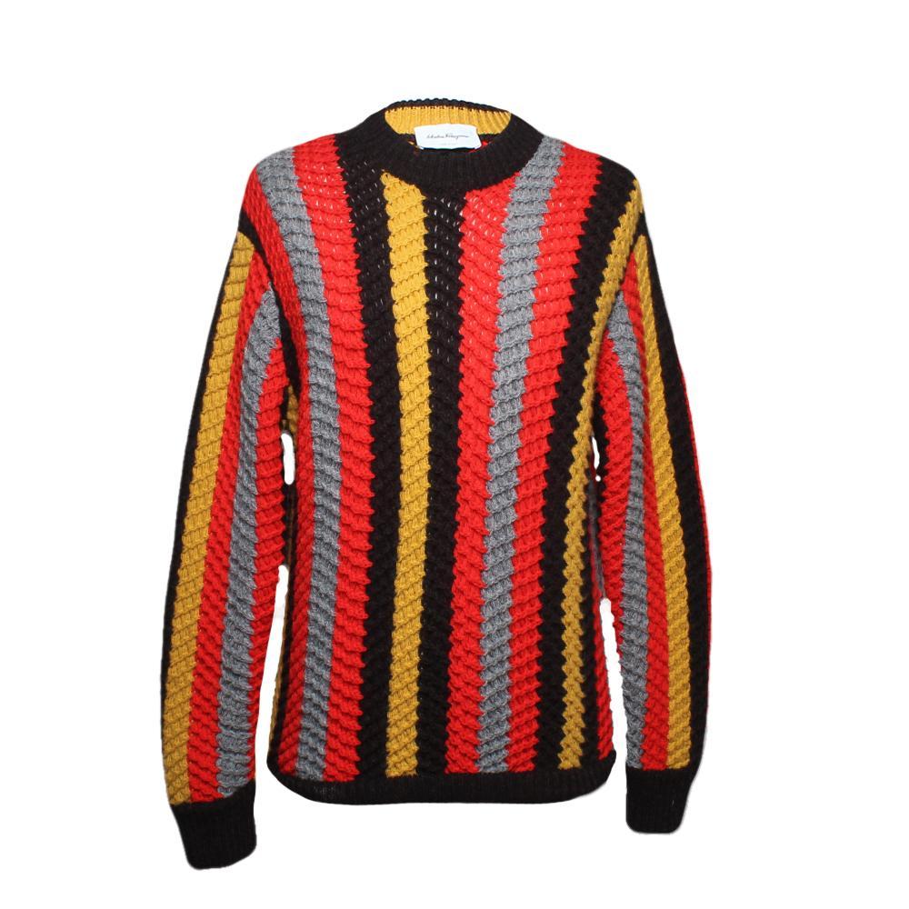 Salvatore Ferragamo Size Large Looseknit Sweater