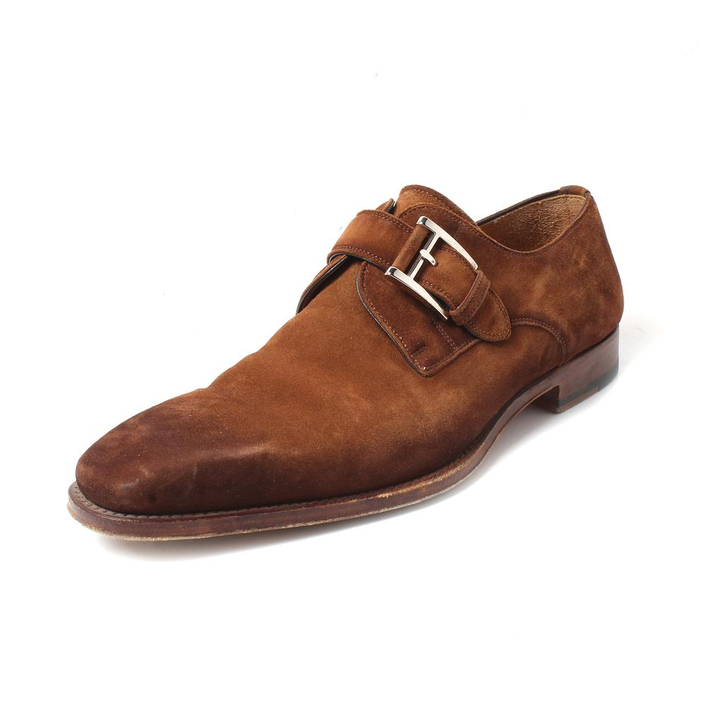 Magnanni Size 8 Suede Buckle Shoes