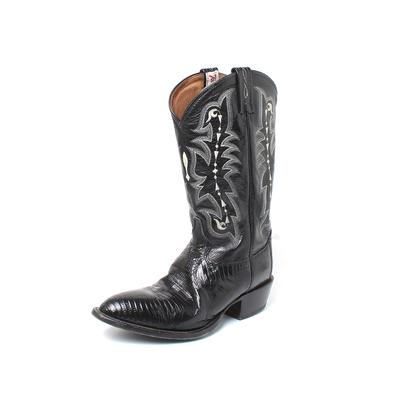 Tony Lama Size 9 Lizard Western Boots