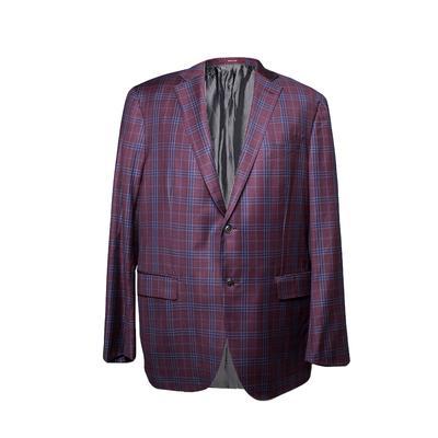 Ermenegildo Zegna Size 54 Plaid Sport Coat