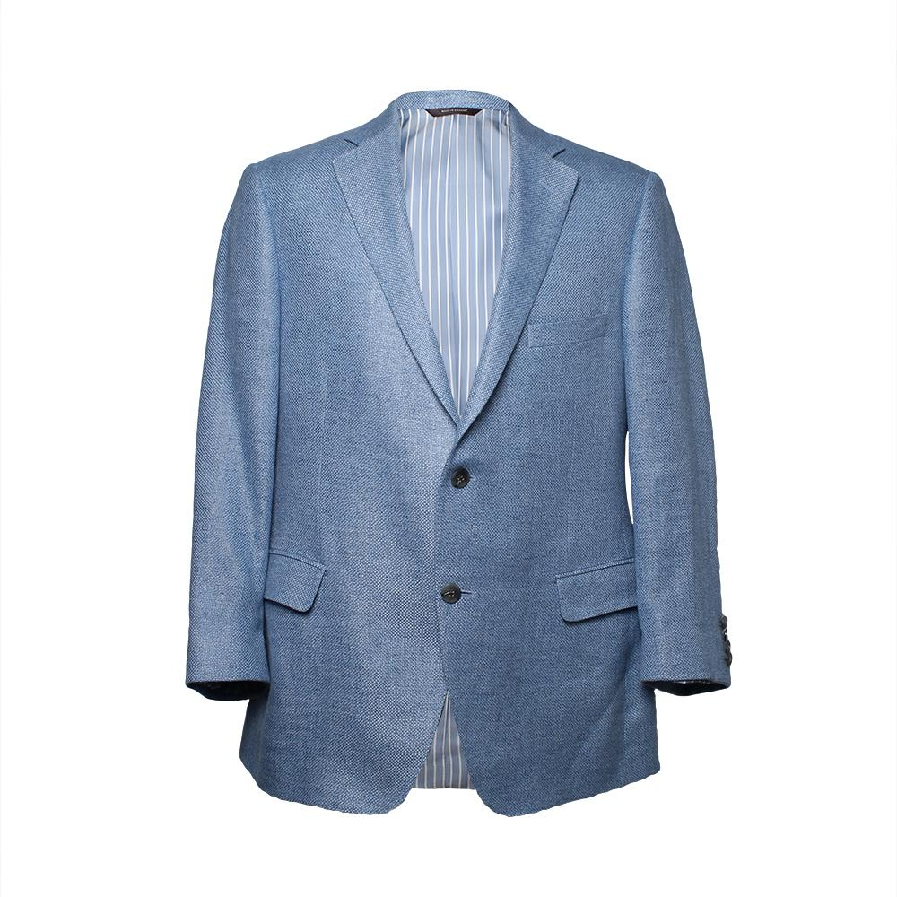 Paul Stuart Size 41 Blue Tweed Sport Coat