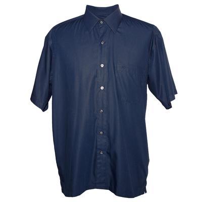 Versace Size 16.5 Navy Classic V2 Short Sleeve Shirt