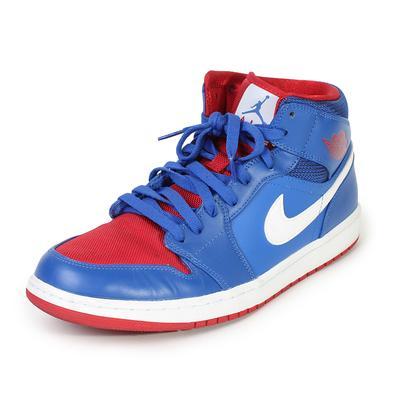 Air Jordan Size 10.5 1 Mid 'Detroit Pistons' Sneakers