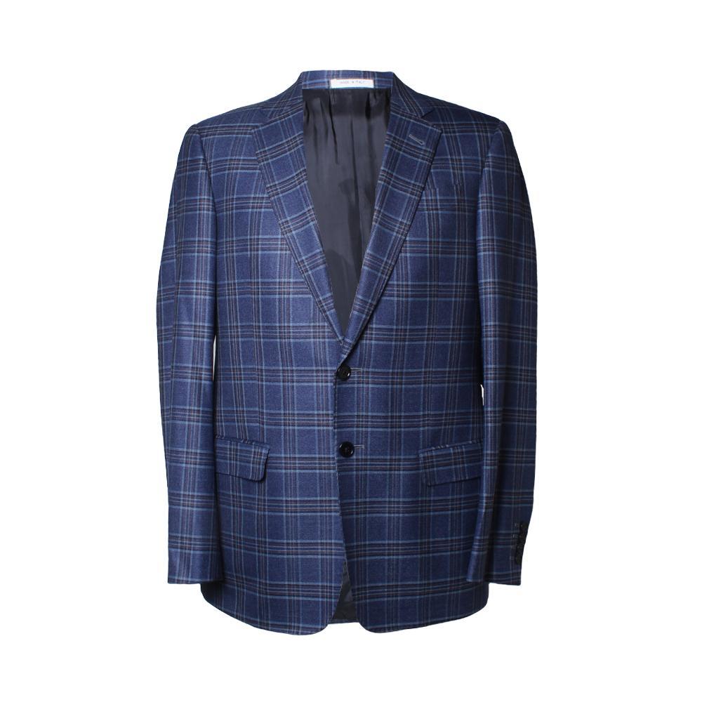 Armani Collezioni Size 38 Blue Plaid Sport Coat