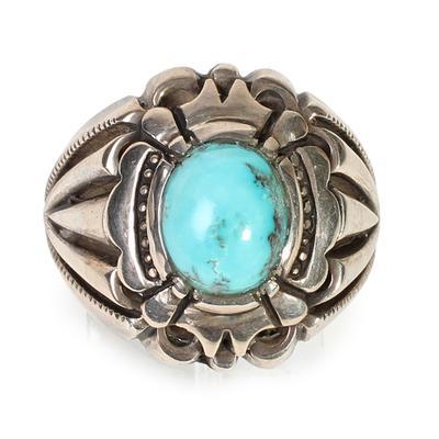 Artisan Size 10 Turquoise Ring