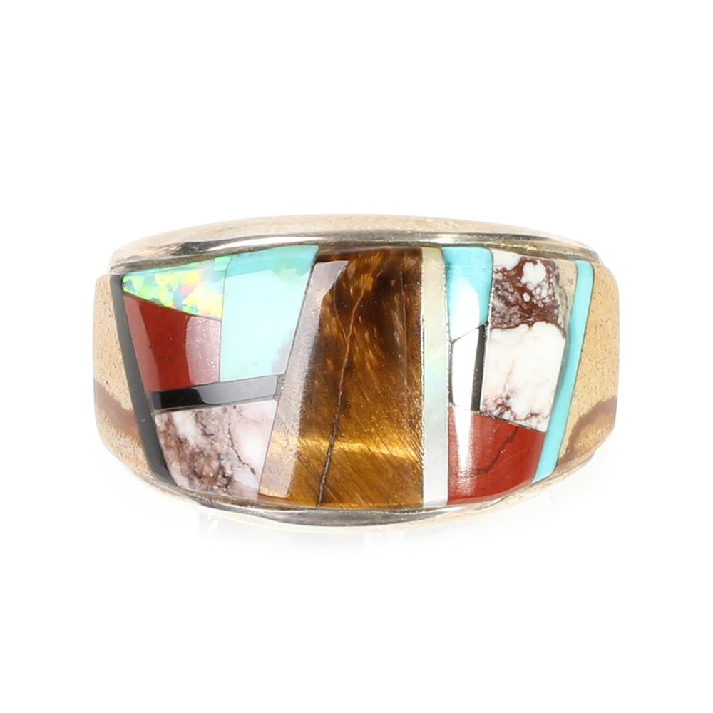 Lazuli Size 11 Multi Inlay Ring