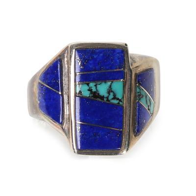 Lapis & Turquoise Silver Ring