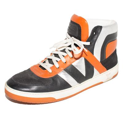 Louis Vuitton Size 10 Orange High Top Sneakers