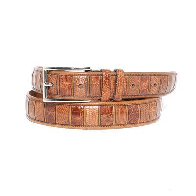 Mezlan Size 40 Brown Lizard Belt