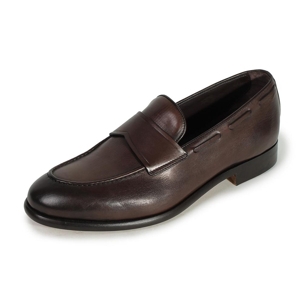 Ermenegildo Zegna Size 8 Leather Loafers
