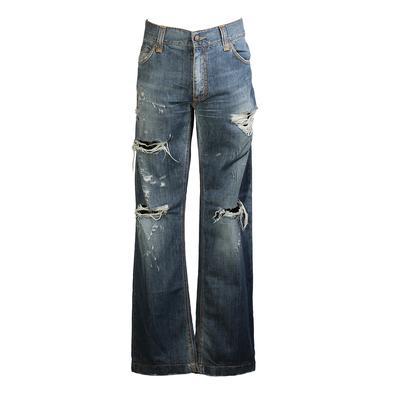 Dolce & Gabbana Size 50 Distressed Jeans