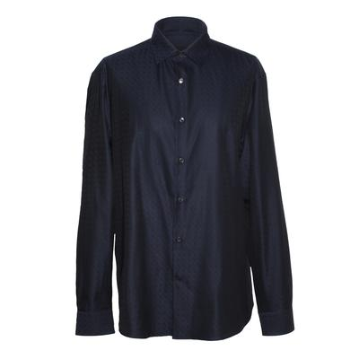 Salvatore Ferragamo Navy Horsebit Sporty Shirt