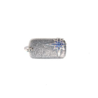 David Yurman North Star Sterling Silver and Sapphire Pendant