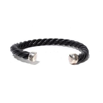David Yurman Twisted Black Bracelet
