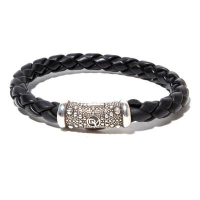 David Yurman Black Leather Cord Bracelet