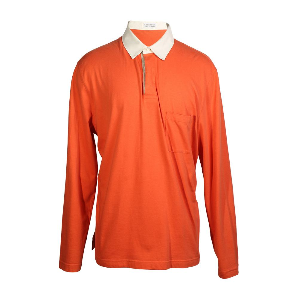 Brunello Cucinelli Size Xl Long- Sleeve Polo