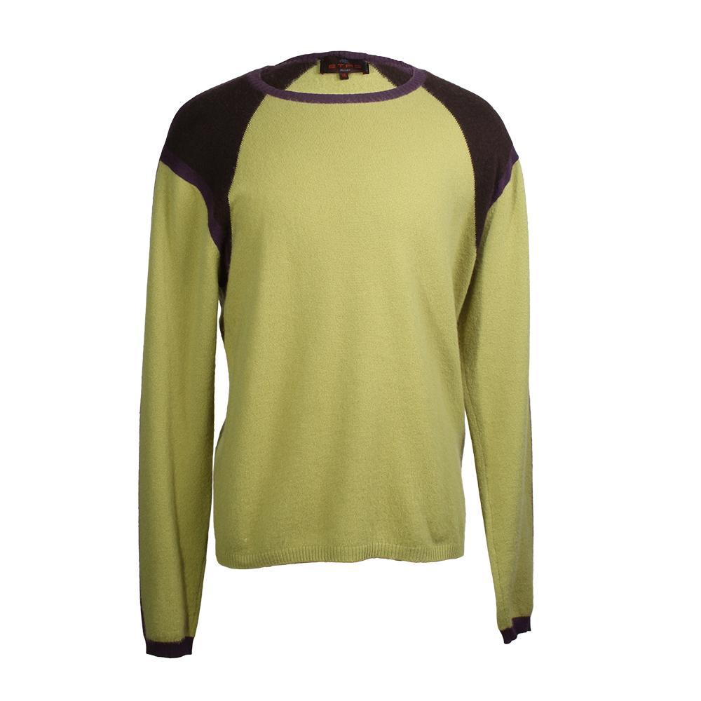 Etro Size Xl Two- Tone Cashmere Sweater