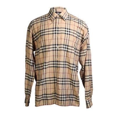 Burberry London Size Large Check Poplin Shirt