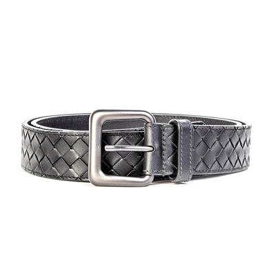 Bottega Veneta Size 42 Black Woven Leather Belt