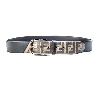 Fendi Size 42 Black Belt