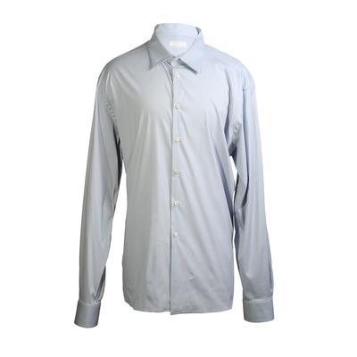 Prada Size 46 Grey Dress Shirt