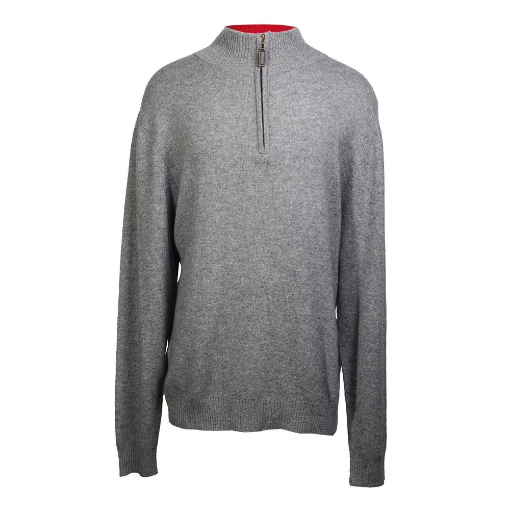 Judson Wade Size Xxl Zip Collar Cashmere Sweater