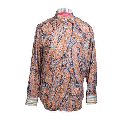 Robert Graham Size Medium Paisley Print Long Sleeve Shirt