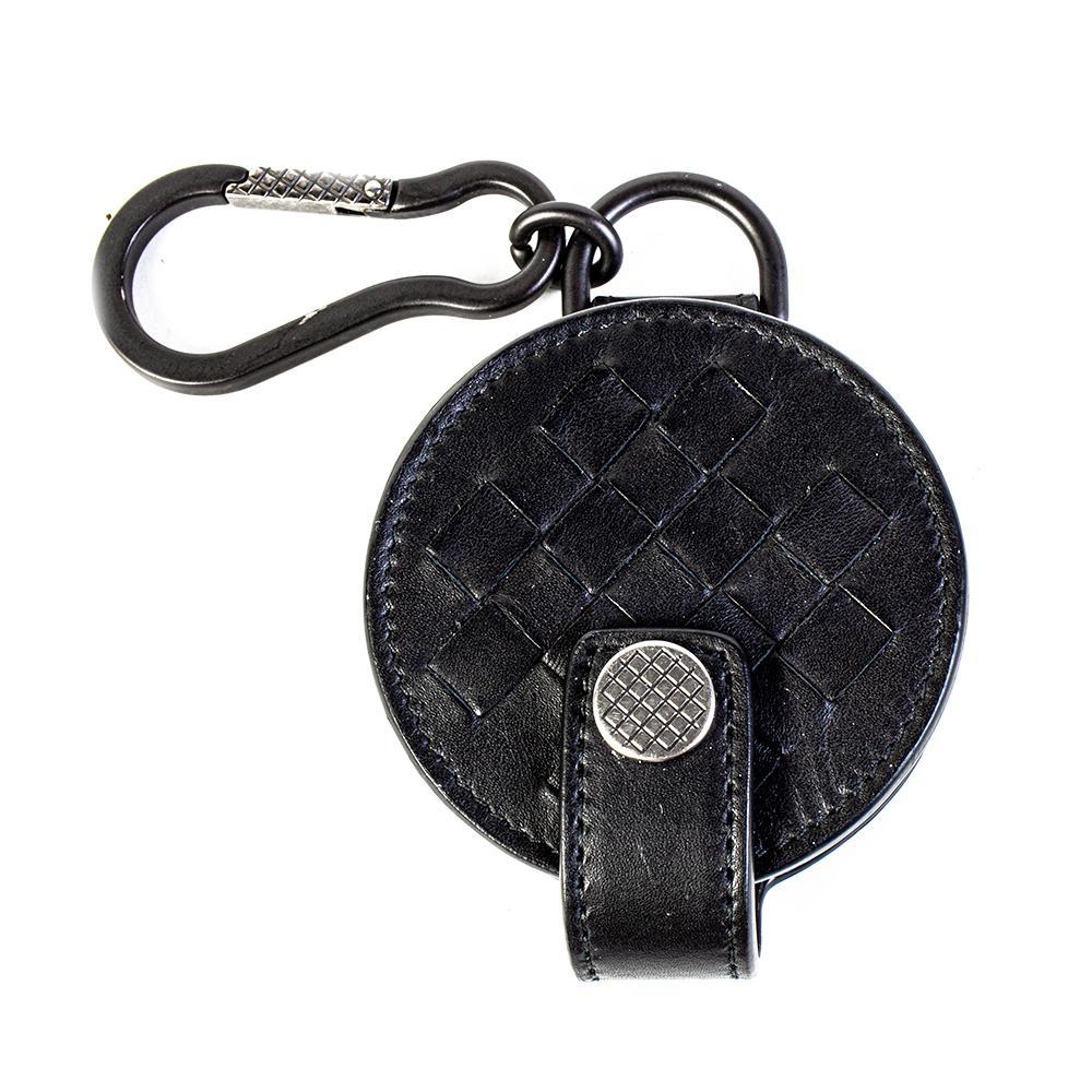 Bottega Veneta Size Small Black Leather Electronic Travel Case