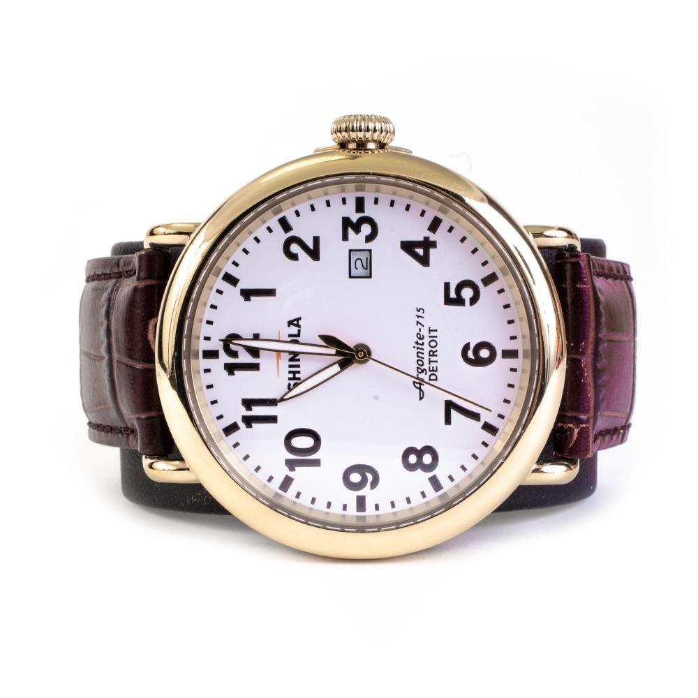 Shinola Burgundy Watch With Band Box