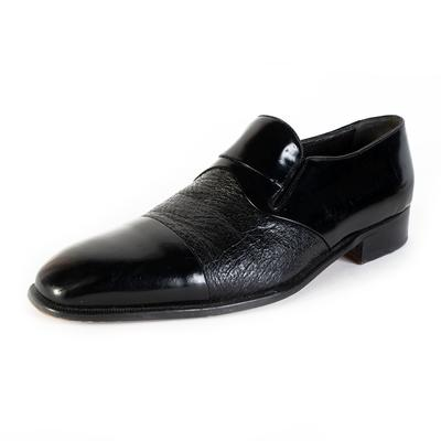 Moreschi Size 10 Black Leather Shoes