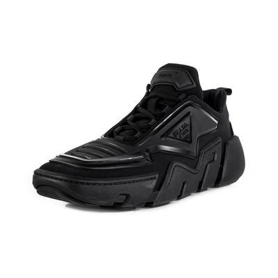 Prada Size 10 Black Techno Stretch Athletic Shoe